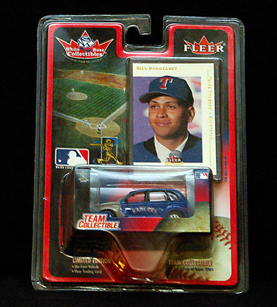 2001 Fleer Alex Rodriguez Rangers PT Cruiser Die Cast Car - TnTCollectibles