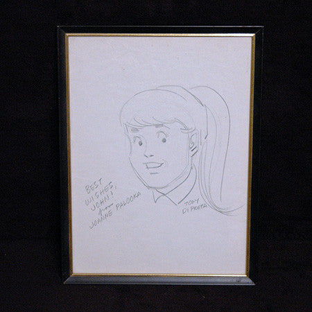 Signed Tony DiPreta Original Joann Palooka Sketch - TnTCollectibles
