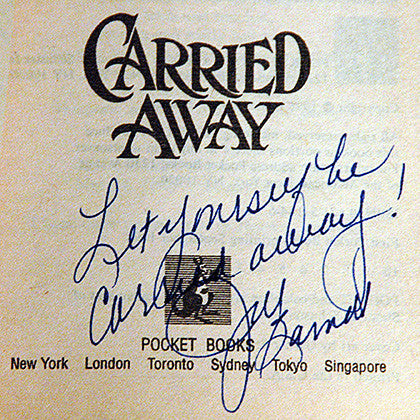 Jill Barnett Autographed Hand-Signed Carried Away Book - TnTCollectibles - 1