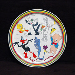 1974 Looney Tunes Metal Tray Bugs Bunny Tweety Taz Daffy Porky Sylvester - TnTCollectibles