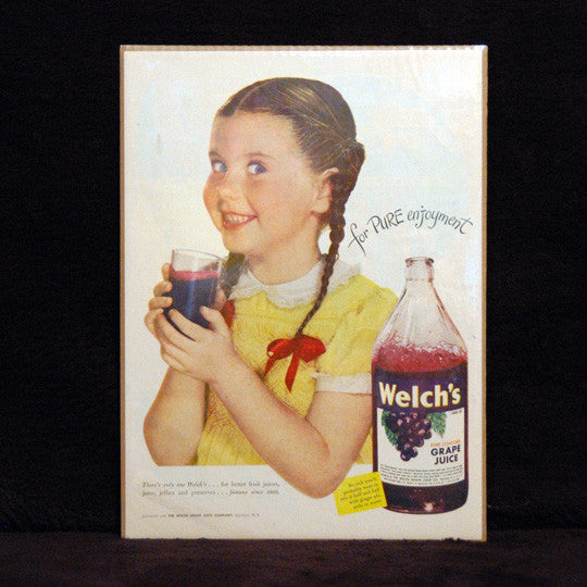 Antique Welch's Grape Juice Print Ad - TnTCollectibles