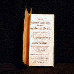 1914 Webster Dictionary & Complete Vest Pocket Library - TnTCollectibles - 1