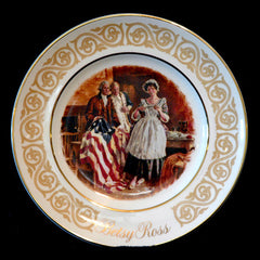 1973 Avon Betsy Ross Gold Trim Collector Plate - TnTCollectibles
