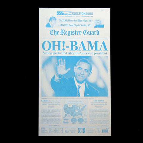 Actual Newspaper Printing Plate Declaring Barack Obama was Elected President - TnTCollectibles - 1