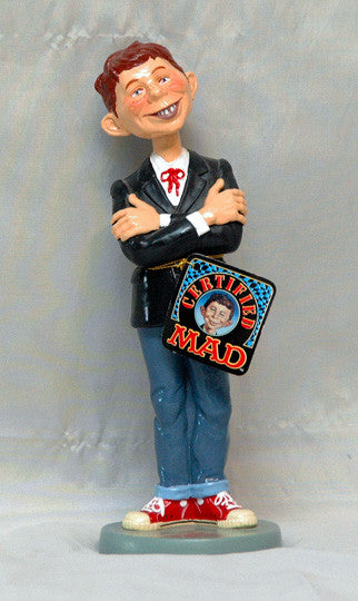Rare Collectible 1999 Mad magazine Alfred E. Newman Bobblehead Mint With Tag - TnTCollectibles