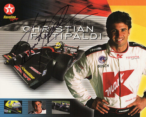 Christian Fittipaldi Autographed Hand-Signed Promo Print 2 - TnTCollectibles - 1