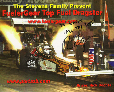 Dragster Racer Rick Cooper Autograph Signed Promo Photo - TnTCollectibles