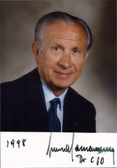 Olympics President Juan Antonio Samaranch Autograph Hand-Signed Photo - TnTCollectibles - 1
