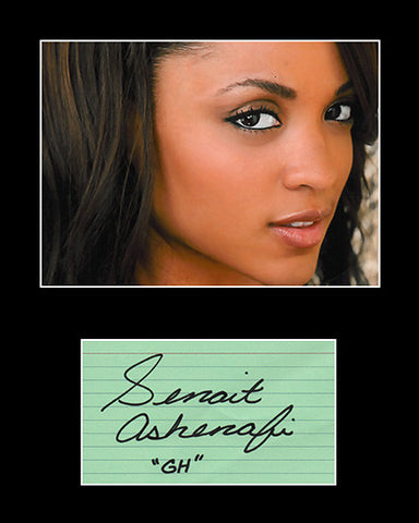 Framed Matted TV Star Senait Ashenaf Hand Signed Autograph and Photo - TnTCollectibles