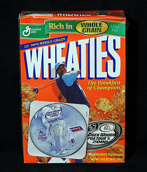 Collectible Limited Edition Golf Legend Tiger Woods Wheaties Cereal w Game Demo - TnTCollectibles - 1