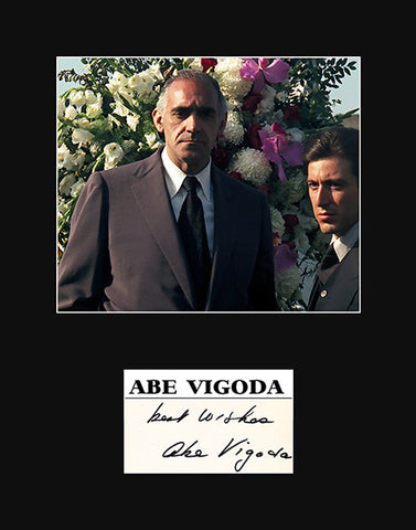 Framed Matted TV Film Star Abe Vigoda Signed Autograph and Godfather Photo - TnTCollectibles