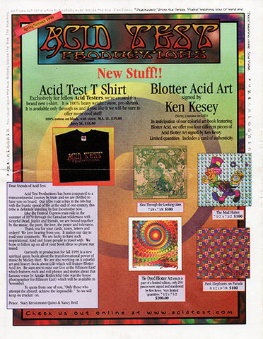 Ken Kesey Acid Test Productions Catalog with Blank Order Form Spring Summer 1999 - TnTCollectibles