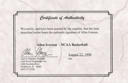 Rare 1996 NCAA Final Four Allen Iverson Autographed Hand Signed Basketball COA - TnTCollectibles - 3