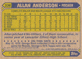2 Time World Series Champion Pitcher Allan Anderson Autograph Twins Signed Card - TnTCollectibles - 2