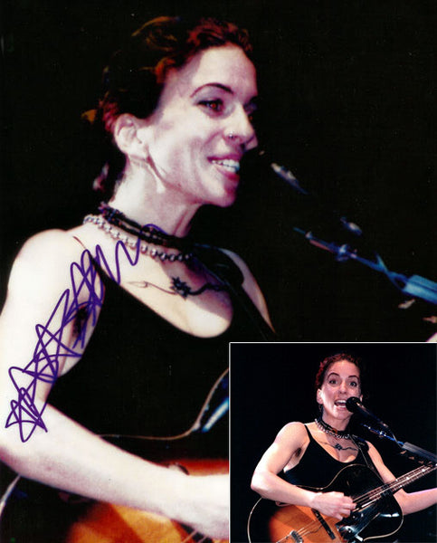 Rare Collectible Framed Ani DiFranco Autograph Hand Signed Photo and Insert - TnTCollectibles - 1