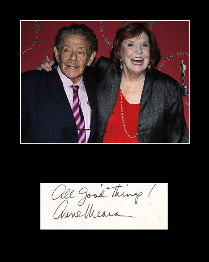 Collectible Matted TV and Film Star Anne Meara Hand Signed Autograph and Photo - TnTCollectibles