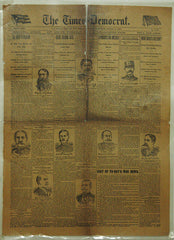 1881 Laminated Original Spanish American War Newspaper Page Dec 4th - TnTCollectibles - 1
