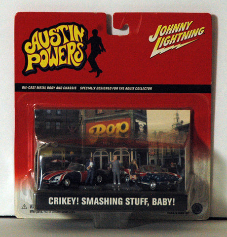 Austin Powers Dual American British Collector Cars and Figures - TnTCollectibles - 1