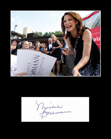 Tea Party Queen Michelle Bachmann Autograph and Photo - TnTCollectibles