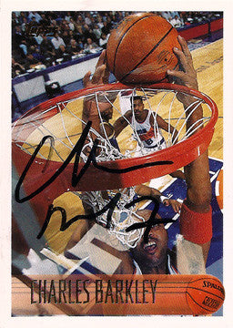 NBA Basketball Legend Charles Barkley Autograph Hand Signed Phoenix Suns Card - TnTCollectibles - 2