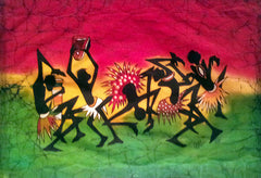 Famous Artist Martin Owino Signed African Batik Pres. Obama's Cousin (2) - TnTCollectibles - 1