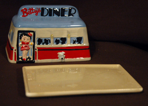 Betty Boop Diner Ceramic Butter and Cheese Dish - TnTCollectibles - 1