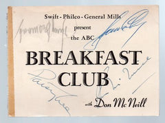 1950 Four Autographs ABC Breakfast Club Don McNeill Signed Ticket - Allison Lee Desmond - TnTCollectibles - 1