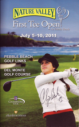 PGA Golf Pro Chip Beck Autograph Hand Signed 2011 Pebble Beach First Tee Program - TnTCollectibles
