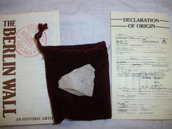 Historical Authentic Original Piece of the Berlin Wall with Authentication - TnTCollectibles - 1