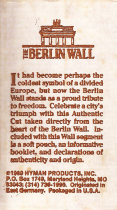 Historical Authentic Original Piece of the Berlin Wall with Authentication - TnTCollectibles - 3