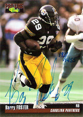 1995 Barry Foster Autographed Hand-Signed Football Card - TnTCollectibles