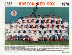 1978 Bill Campbell Autograph Hand Signed Boston Red Sox Team Photo - TnTCollectibles