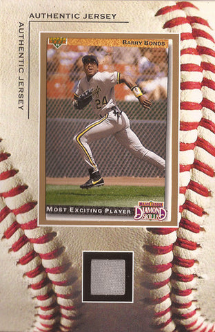 Rare Collectible Barry Bonds Framed Pittsburgh Pirates Game Used Jersey Card - TnTCollectibles