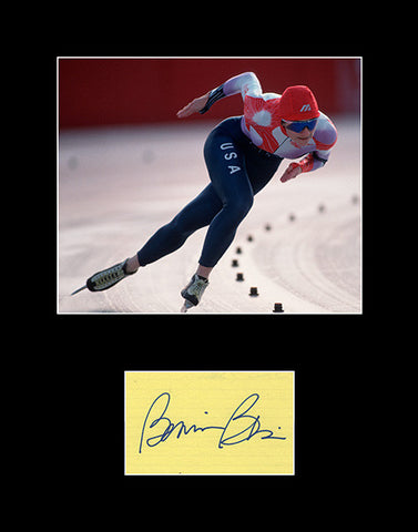 Olympic Speed Skater Legend Bonnie Blair Hand Signed Autograph and Photo - Framed and Matted 11x14 - TnTCollectibles