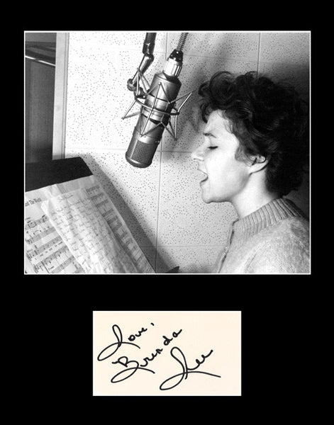 Framed Matted Country Music Legend Brenda Lee Autograph and Photo - TnTCollectibles