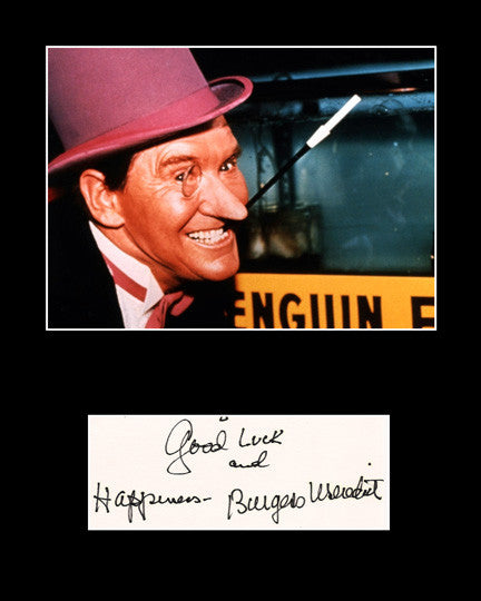 Framed Matted TV and Film Star Burgess Meredith Signed Autograph and Photo - TnTCollectibles