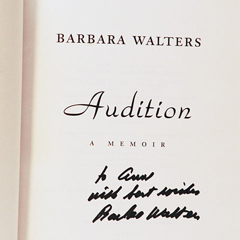 TV News Legend Barbara Walters Autograph Hand Signed Audition Book - TnTCollectibles - 1