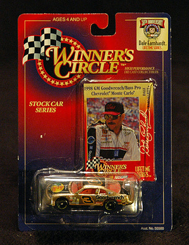 NASCAR 50th Anniversary Racer Dale Earnhardt Winner's Circle #3 Car - TnTCollectibles
