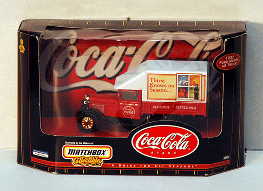 Rare Vintage 1998 Coca Cola Matchbox Collectibles 1932 Coke Ford Model AA Truck - TnTCollectibles