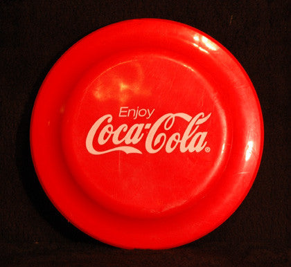 Vintage Collectible Coke Enjoy Coca Cola Red Frisbee Type Flying Disk - TnTCollectibles