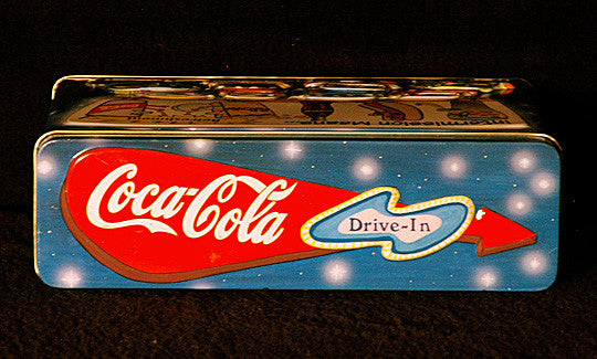 Rare Vintage Collectible Coke Embossed Coca Cola Drive-In Theater Display Tin - TnTCollectibles - 3