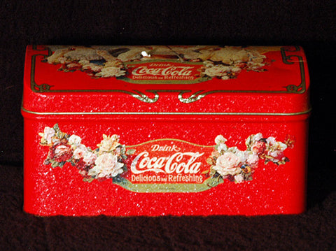 Vintage Collectible Coke Drink Coca Cola Unique Antique Chest Display Tin - TnTCollectibles - 1