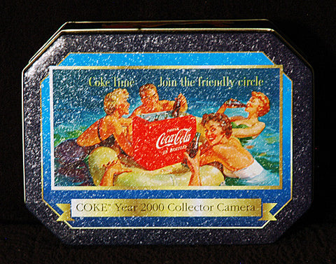 Vintage Collectible Coke Time Coca Cola Year 2000 Collector Camera Display Tin - TnTCollectibles - 1