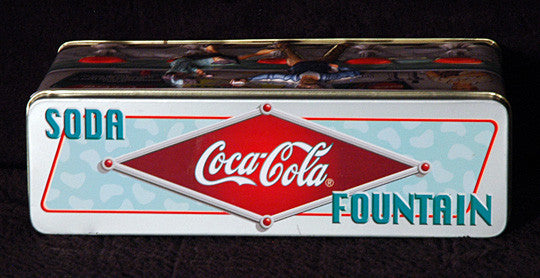 Rare Vintage Collectible Coke Embossed Coca Cola 50's Soda Fountain Display Tin - TnTCollectibles - 3