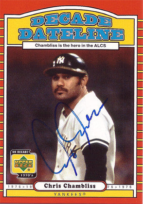 Chris Chambliss Autographed Signed Upper Deck Baseball Card - TnTCollectibles