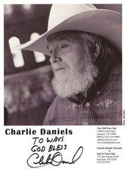 Collectible Country Music Legend Charlie Daniels Autograph Hand Signed Photo - TnTCollectibles