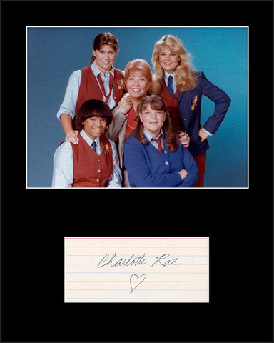 Framed Matted TV Star Charlotte Rae Facts Of Life Signed Autograph and Photo - TnTCollectibles