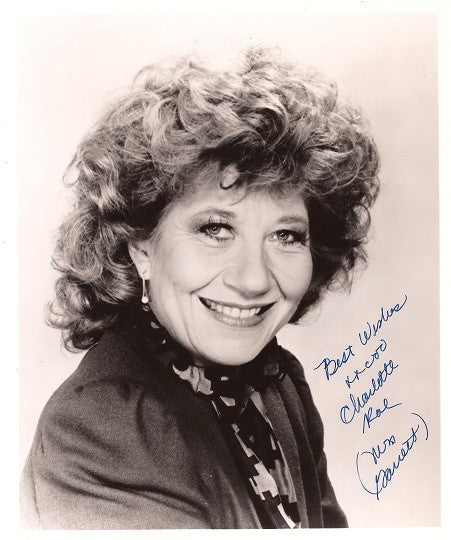 Collectible Facts of Life TV Star Charlotte Rae Autograph Hand Signed 8x10 Photo - TnTCollectibles