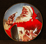 Coca Cola Santa Claus Franklin Mint Collector Plate Stocking Up For Santa 1994 HB 8279 - TnTCollectibles - 1