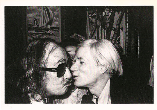 Vintage Artist Legend Salvador Dali Kissing Andy Warhol Postcard - TnTCollectibles - 1